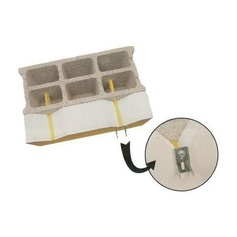Cheville fixation de radiateur spécial plaque de platre + polystyrène ING Fixation