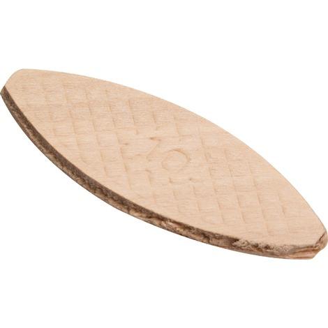 Cheville plate bois N°10 SCID - Longueur 55 mm - Vendu par 50 - Beige