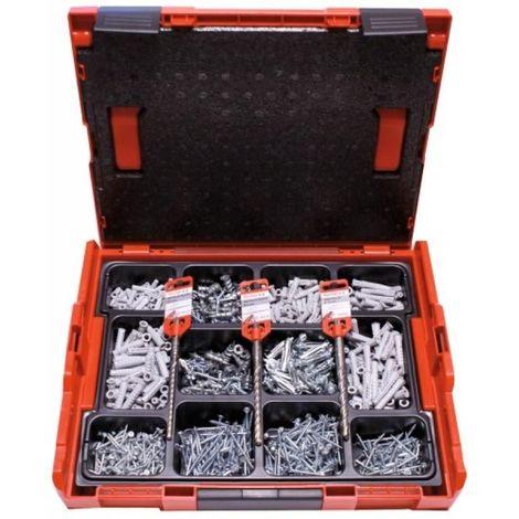 Chevilles nylon fixation tous matériaux, mallette L-Boxx