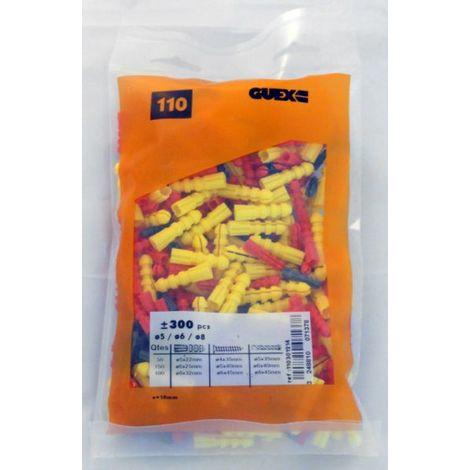 Chevilles Plastiques Diam 5-6-8 (Sachet 300 pièces) GUEX DIAGER