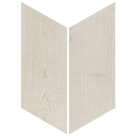 Chevron imitation bois sol ou mur 9x20.5 cm HEXAWOOD GREY - réf. 21653-21654 - 1m² | gauche