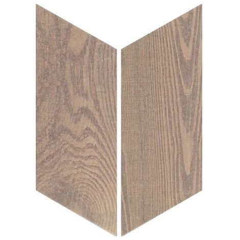 Chevron imitation bois sol ou mur 9x20.5 cm HEXAWOOD OLD - réf. 21660-21659 - 1m² | gauche