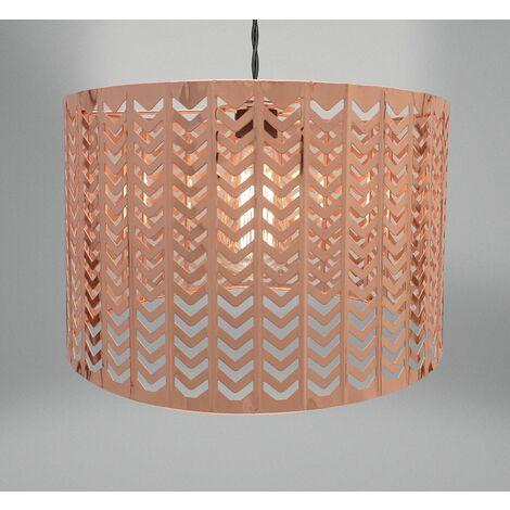 Chevron Light Fitting - Copper (32 x 19cm)