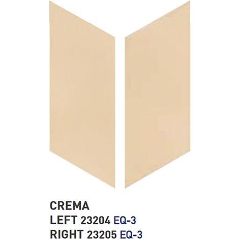 Chevron uni sol ou mur 9x20.5 cm CRÈME - réf. 23204-23205- 1m² | gauche