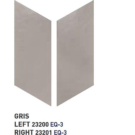 Chevron uni sol ou mur 9x20.5 cm GRIS - réf. 23200-23201 - 1m² | droit