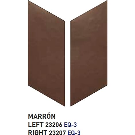 Chevron uni sol ou mur 9x20.5 cm MARRON -réf. 23206-23207 - 1m² | droit