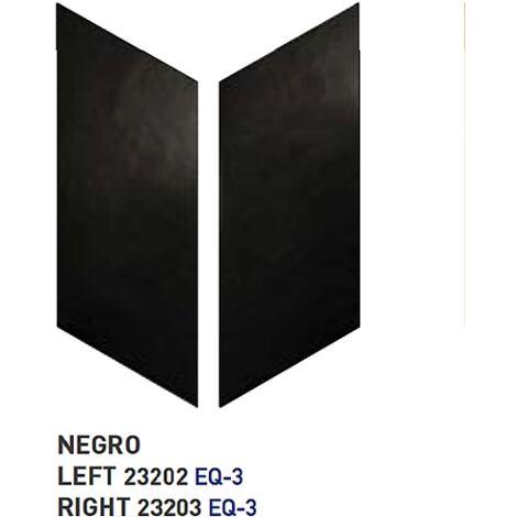 Chevron uni sol ou mur 9x20.5 cm NOIR - réf. 23202-23203- 1m² | gauche