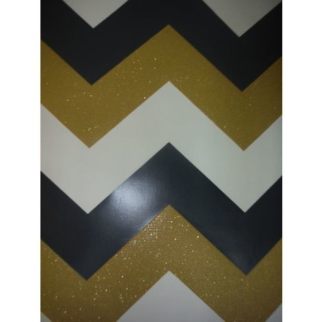 Chevron Wallpaper Zig Zag Geometric Modern Sparkle Glitter Textured Arthouse