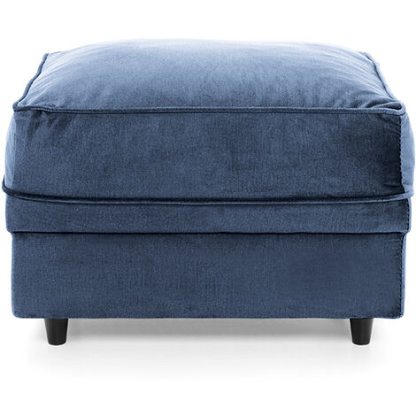 Chicago Footstool - color Dark Blue