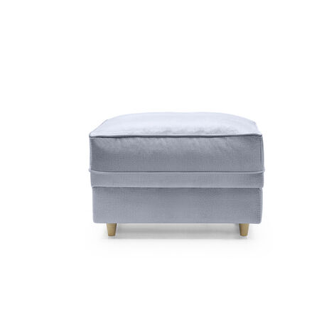 Chicago Footstool - color Silver Blue