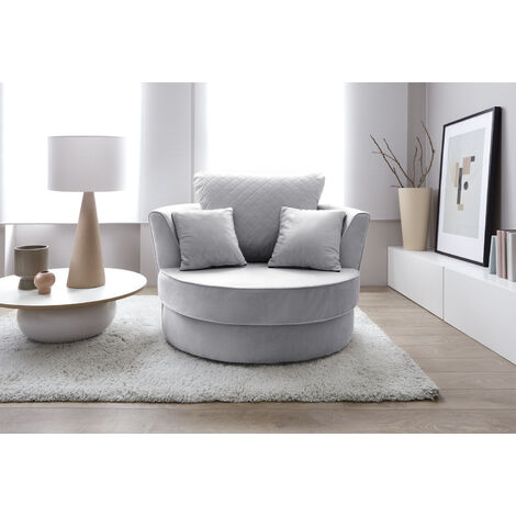 Chicago Swivel Chair - color Light Grey