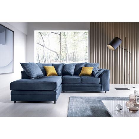 """main image of """"Chicago Velvet Corner Sofa"""""""