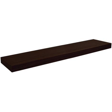 CHICAGO - Wood Effect 100cm Floating Chunky Wall Shelf - Walnut