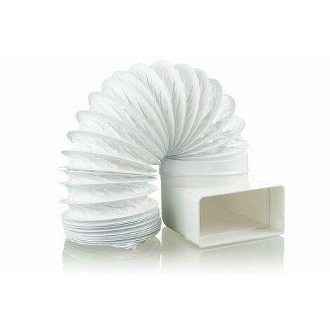 Chicane pour conduit de ventilation avec flexible en PVC 1m, 100 mm
