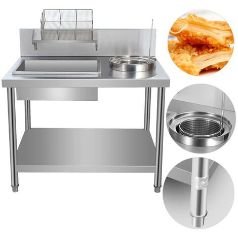 Chicken Breading Table Electric Fried Chicken Breading Table Commercial Kitchen