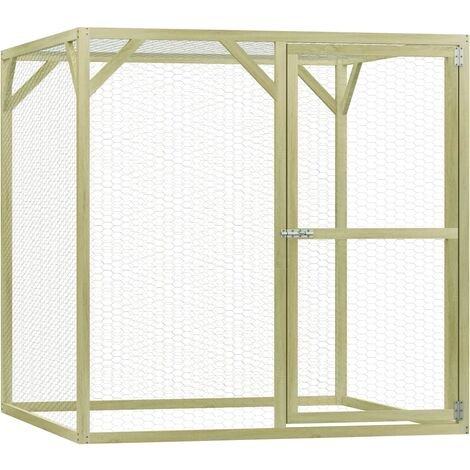 Chicken Cage 1.5x1.5x1.5 m Impregnated Pinewood - Green