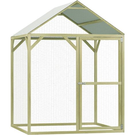 Chicken Cage 1.5x1.5x2 m Impregnated Pinewood - Green