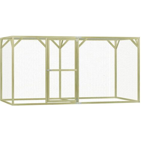 Chicken Cage 1.5x3x1.5 m Impregnated Pinewood - Green