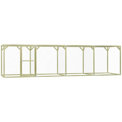 Chicken Cage 1.5x6x1.5 m Impregnated Pinewood