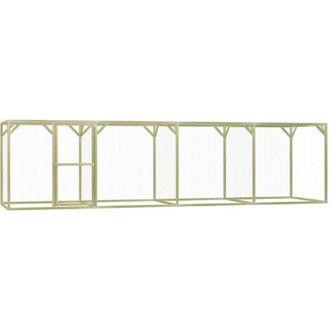 Chicken Cage 1.5x6x1.5 m Impregnated Pinewood - Green