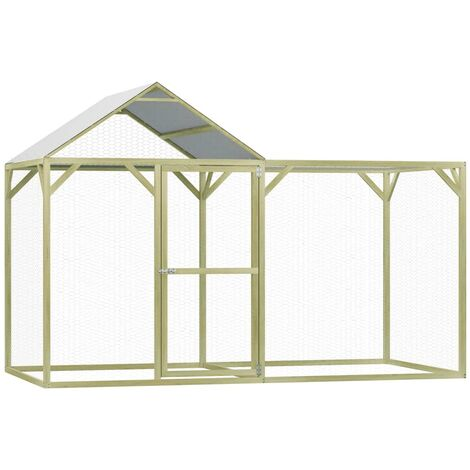 Chicken Cage 3x1.5x2 m Impregnated Pinewood