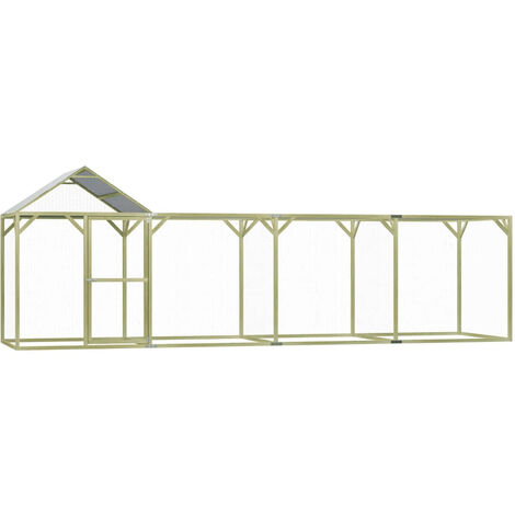 Chicken Cage 6x1.5x2 m Impregnated Pinewood