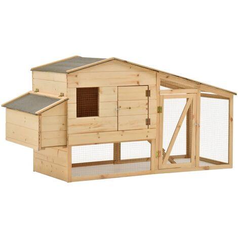 Chicken Cage Solid Pine Wood 178x67x92 cm