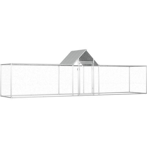 Chicken Coop 5x1x1.5 m Galvanised Steel