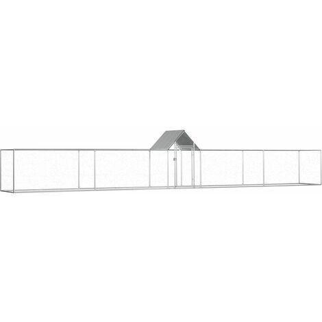Chicken Coop 9x1x1.5 m Galvanised Steel