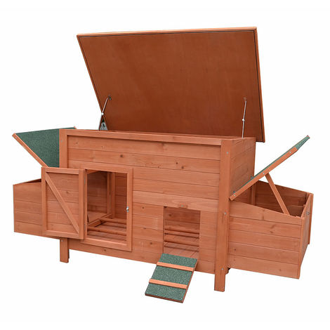 chicken coop chicken house poultry coop rabbit hutch 2 egg deposits wood rabbit cage
