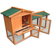 Chicken Coop Hen House Poultry - Pet Hutch Bunny House/ Large Run