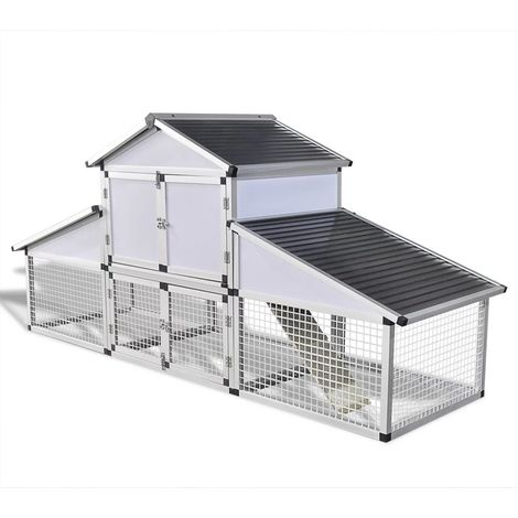 Chicken Coop with Runs and Nest Box Aluminium