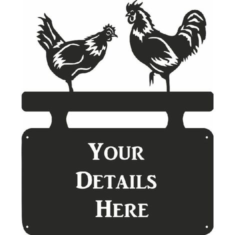 """main image of """"Chickens House Plaque - Regular"""""""