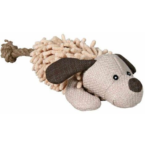 Chien avec corde, tissu/peluche - 30 cm