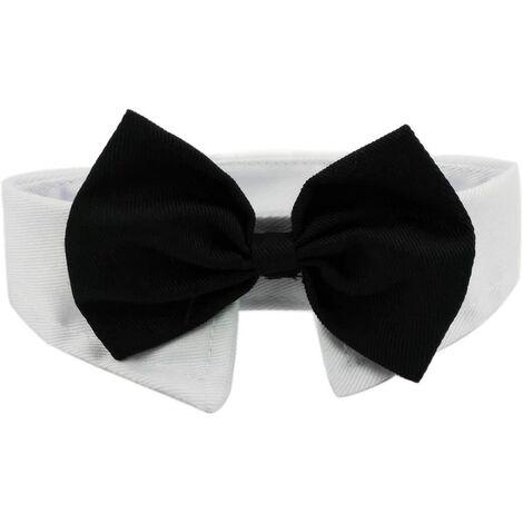 Chien Chat Cravate Formelle Animal de Compagnie Collier en Coton Ajustable Nœud Papillon Bowknot pour Fête Mariage