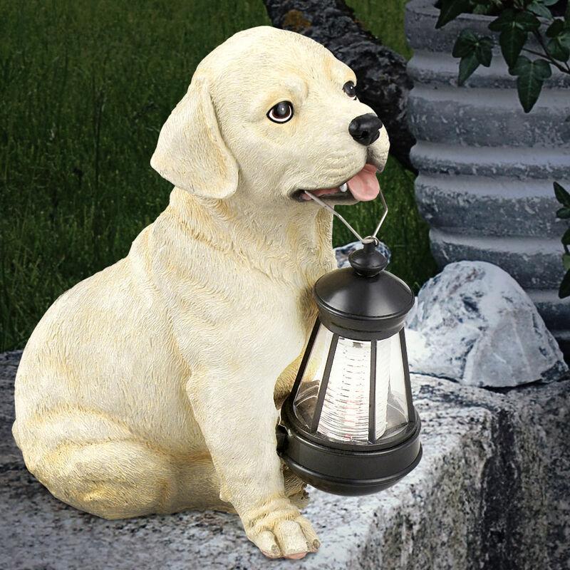 Luminaire solaire LED chien sculpture extérieur jardin terrasse décoration Retri