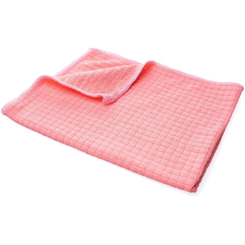 Chiffon en microfibre, chiffon de nettoyage de cuisine, chiffon absorbant, éponge à récurer (2 pièces rouge