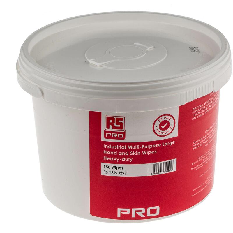 Rs Pro - Lingettes pour nettoyage des mains, Industrial, Multi-Purpose, 150 lingettes par seau