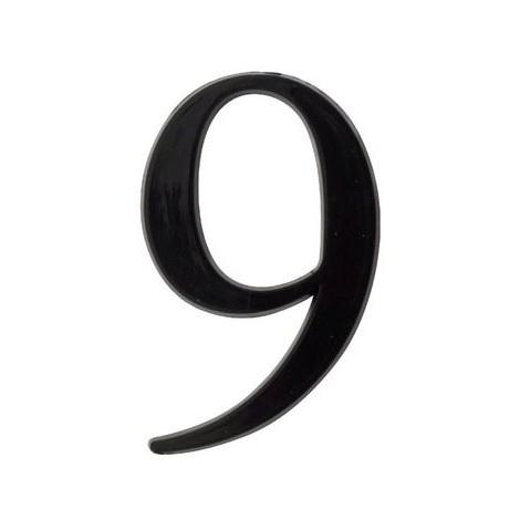 Chiffre 5 en relief autocollant - Noir