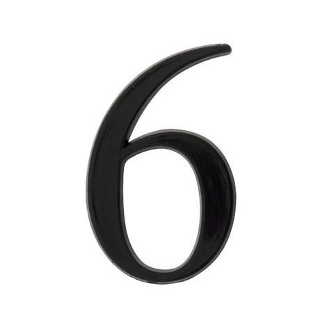 Chiffre 9 en relief autocollant - Noir