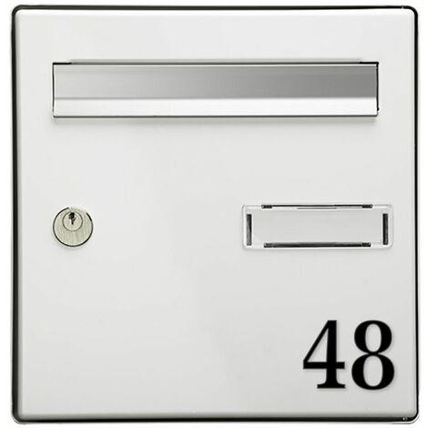Chiffre adhésif 5 cm pour boite aux lettres - Gris clair - Chiffre 2
