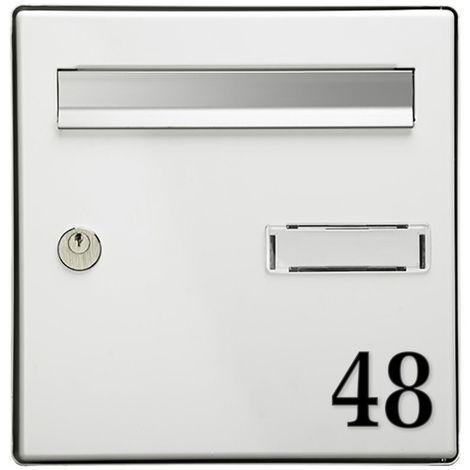 Chiffre adhésif 5 cm pour boite aux lettres - Noir - Chiffre 2