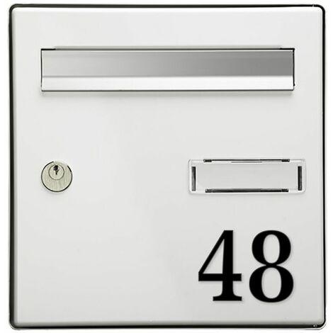 Chiffre adhésif 7 cm pour boite aux lettres - Gris clair - Chiffre 2