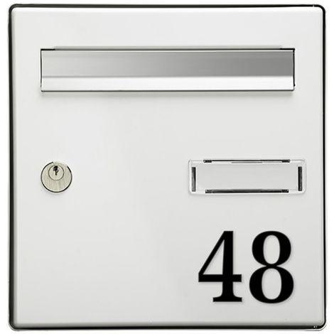 Chiffre adhésif 7 cm pour boite aux lettres - Noir - Chiffre 2