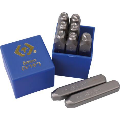 Chiffres à frapper 8mm - 9 pièces