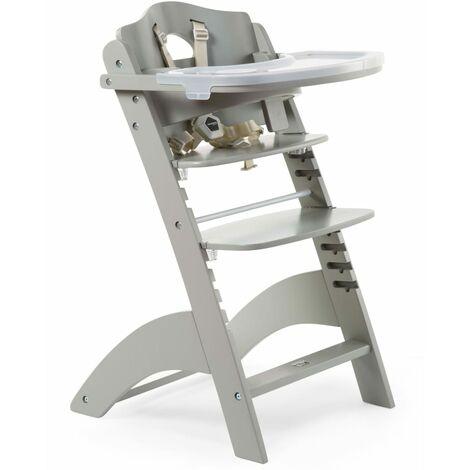 CHILDHOME 2-in-1 Baby High Chair Lambda 3 Stone Grey - Grey