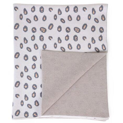 CHILDHOME Baby Blanket 85x70cm Leopard