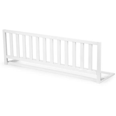 CHILDHOME Barandilla de cama de madera blanca 120 cm - Blanco