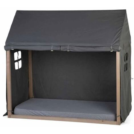 CHILDHOME Bed House Cover 150x80x140 cm Anthracite