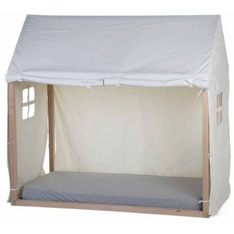 CHILDHOME Bed House Cover 150x80x140 cm White